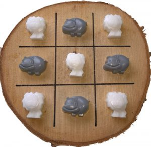 A game with pour soap