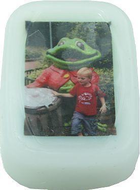 Photo in soap with pour soap