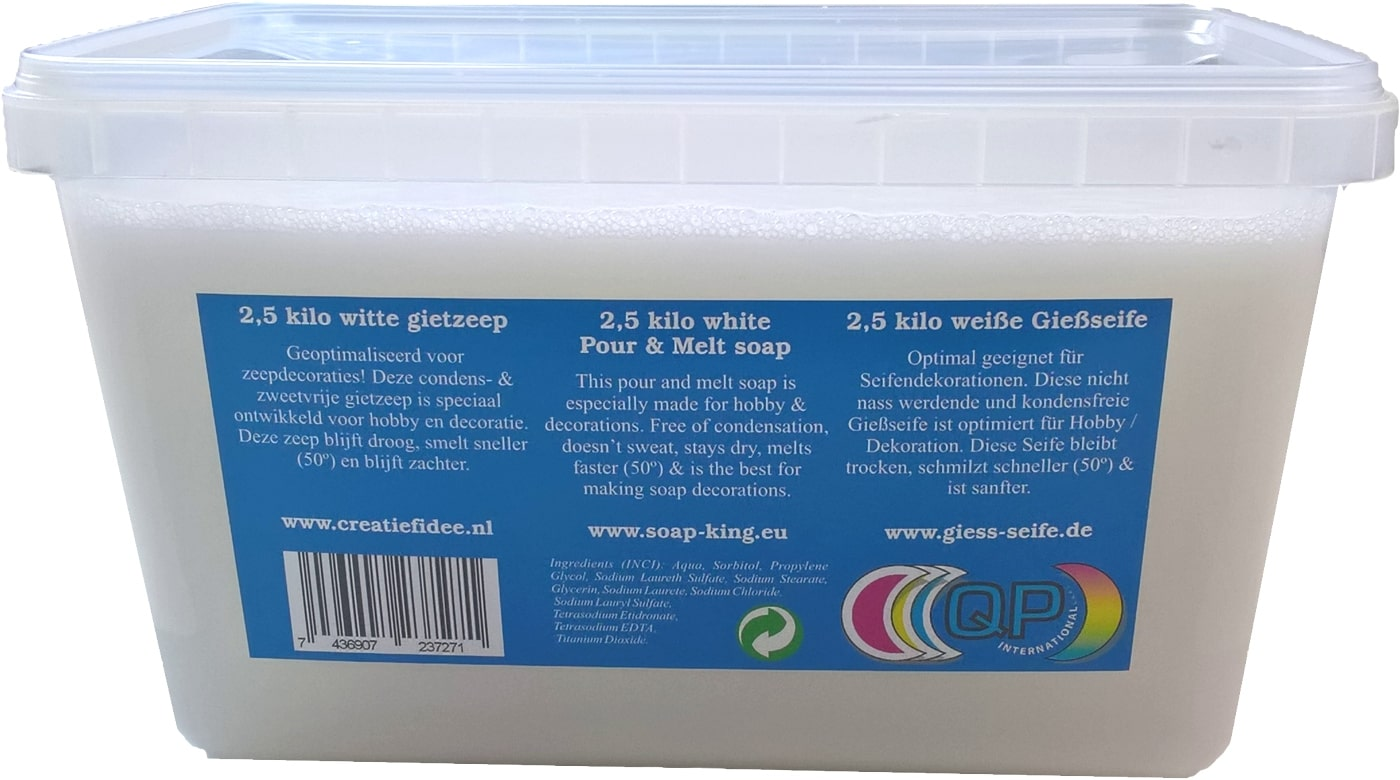 Melt pour soap: 2,5 kilo gram transparant or white