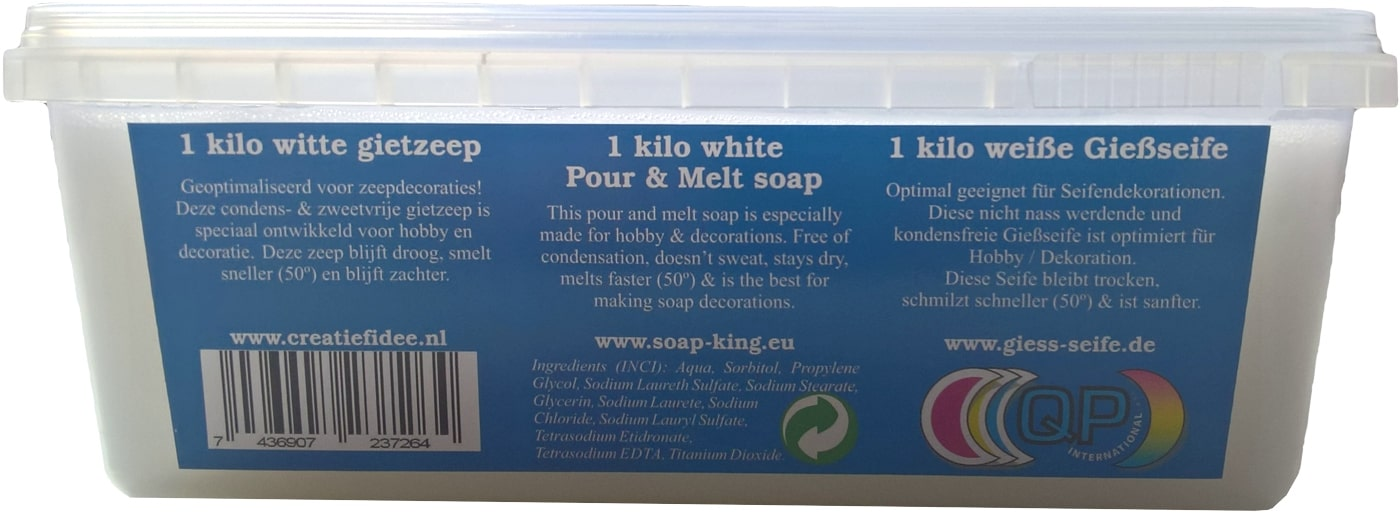 Melt pour soap: 1000 gram transparant or white
